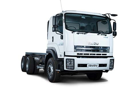 Extra heavy commercial truck whit white backdrop